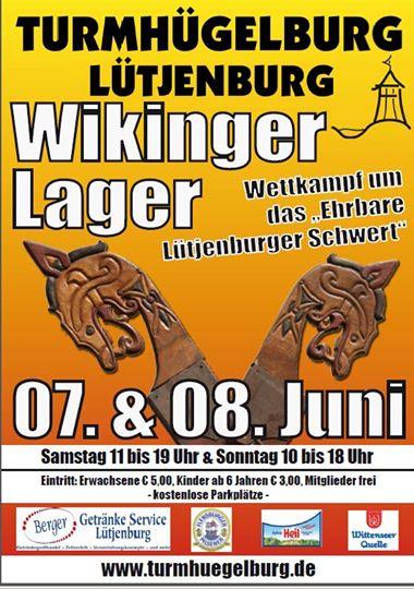 Plakat zur Veranstaltung an der Trmhügelburg Lütjenburg am 7. und 8. Juni 2014