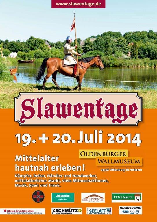 Slawentage-Plakat mit Reiter vor einem See