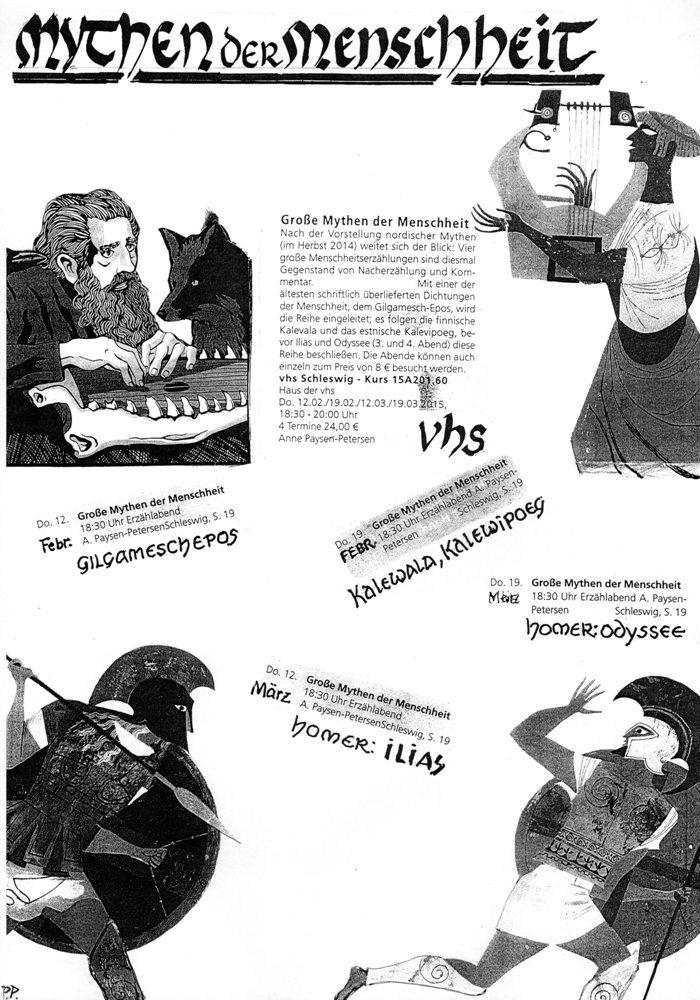 Das Plakat zum Mythenkurs