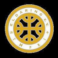 Das Logo des Vereins: ein Kreis, der innen ein Kreuz hat, dessen Enden an den Berührungsstellen mit dem Kreis jeweils in drei Zweige verästelt sind.
